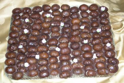 Marron glacé in vassoio per buffet